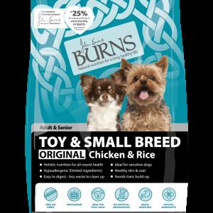 burns dog food toy