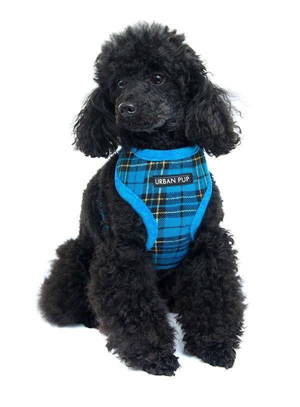 faux fur dog harness