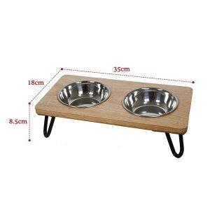 raised double bowl