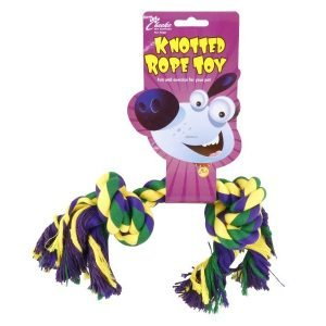 knooted rope dog toy