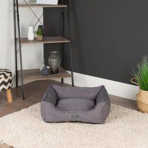 grey dog bed