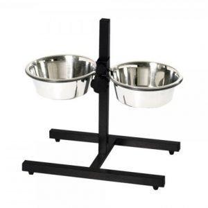 raised dog bowl stand