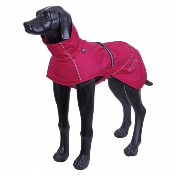 PINK RAIN JACKET FOR DOGS