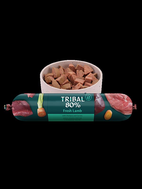 tribal wet dog food gourmet sausage