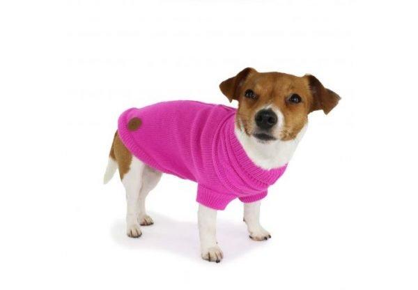 pink dog jumper